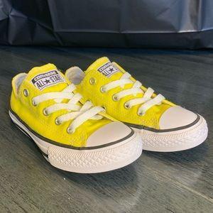 Yellow Low Top Converse - KIDS UNISEX - SZ 12.5